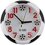 SODIAL Creative Football Reveil Bureau Reveil Etudiant Bureau Reveil Horloge Ronde reveil numerique Horloge de Table numerique pointeur Horloge