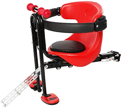 Professional Soft Bike Saddle, Bicycle Child Seat Safety Seat Strap Type Mountain Bike Electric Car All-Inclusive Front Seat Saddle Seat Cushion with Backrest Foot Pedal,b Bicycle Saddle for MTB, Spin