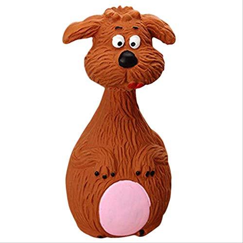 XYBB Hundespielzeug Hund Spielzeug Haustier Kaugummi Glocke Quietschen Den Sound Spielzeug Für Hund Lustige Spiele Interaktive Knochen Doggy Toy Dog Produktion M Schokolade