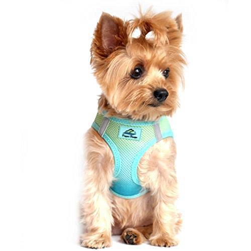 DOGGIE DESIGN American River Dog Harness Ombre Collection (L, Aruba Blue)