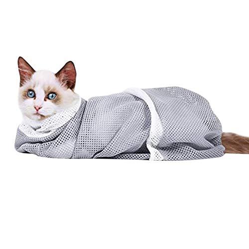 iBaste Cat Grooming Bag,Cat Shower Mesh Bag, Katzen-Dusch-Mesh-Tasche Multifunktions-Anti-Bissbaden-Baden-Putzen-Tasche
