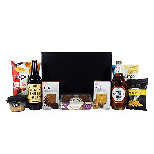 Gentlemanly Indulgence Gourmet Food Hamper Presented in a Black and Silver Gift Box - Gift Ideas for Fathers Day, Valentines, Him, Dad, Birthday, Anniversary, Christmas, Business and Corporate