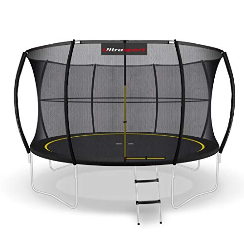Ultrasport 366 Trampoline de Jardin, Unisex-Adult, Negro, 366 cm
