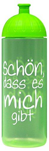 ISYbe Original Marken-Trink-Flasche für Kinder und Erwachsene, 700 ml, BPA-frei, Schön DASS.-Motiv, geeignet für Schule, Reisen, Sport & Outdoor, Auslaufsicher auch mit Kohlensäure, Spülmaschine-fest