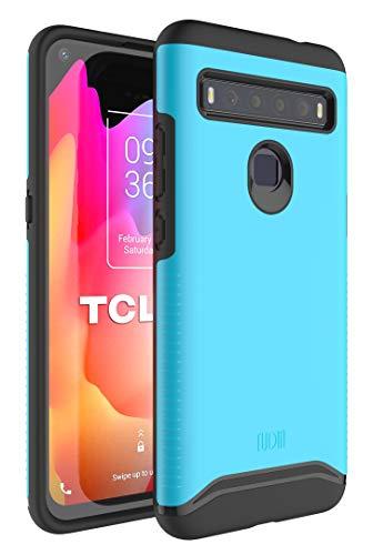 TUDIA Merge Diseñado para la Carcasa TCL 10L, Resistente y Delgada Funda Protectora de Doble Capa para teléfono TCL 10L (Azul)