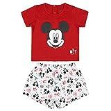 Cerdá Pijama Bebe 18 Meses de Mickey Mouse-Camiseta + Pantalon de Algodón-Color Rojo Juego Unisex bebé