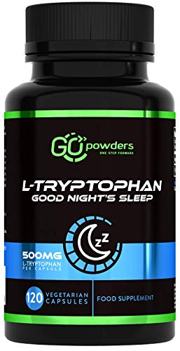 RP L Tryptophan Capsules | 120 Vegan Tablets | 500mg per Serving | Alternative to Sleeping Aid Pills | Immune Support Supplement | Improves Body & Brain Function| Non-GMO, Dairy & Gluten Free