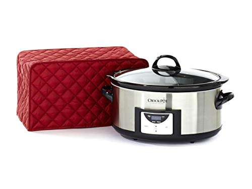 Covermates Keepsakes – Slow Cooker – Dust Protection - Stain Resistant - Washable – Appliance Cover - Red