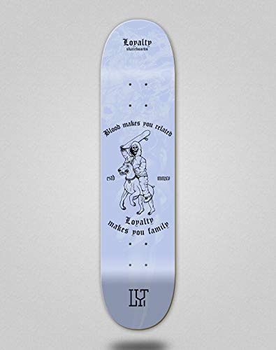 Loyalty Monopatín Skate Skateboard Deck Blood Makes Blue (8.125)