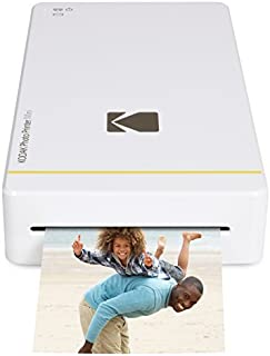 """Kodak Mini Portable Mobile Instant Photo Printer - Wi-Fi & NFC Compatible - Wirelessly Prints 2.1 x 3.4"""" Images, Advanced DyeSub Printing Technology (White) Compatible with Android & iOS"""