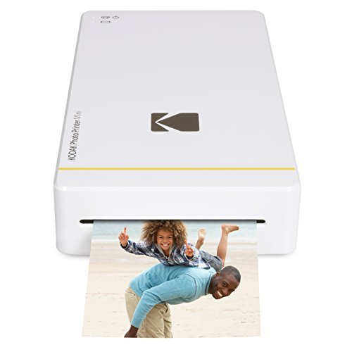 Kodak Mini Portable Mobile Instant Photo Printer - Wi-Fi & NFC Compatible - Wirelessly Prints 2.1 x 3.4' Images, Advanced DyeSub Printing Technology (White) Compatible with Android & iOS