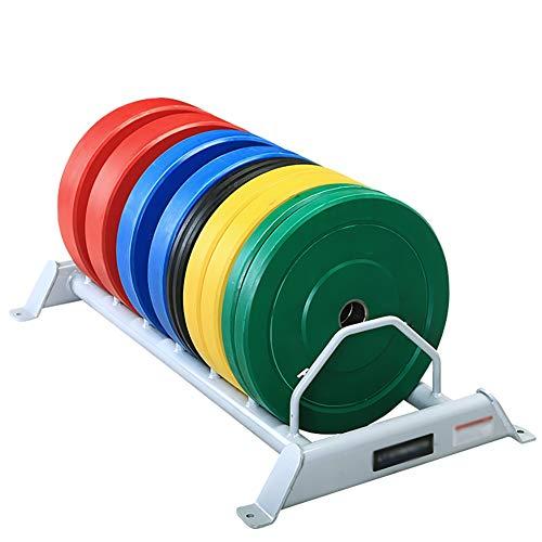YYLL Lagerregale Barbell Storage Rack Voll Kunststoff Oval Platte mit großer Loch Platte Storage Rack stapelbare Barbell Storage Rack (Color : Black)