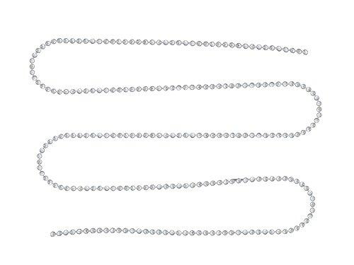 2 mètres de chaine boule à facettes métal couleur argenté clair