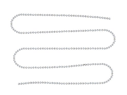 3 mètres de chaine boule à facettes métal couleur argenté clair