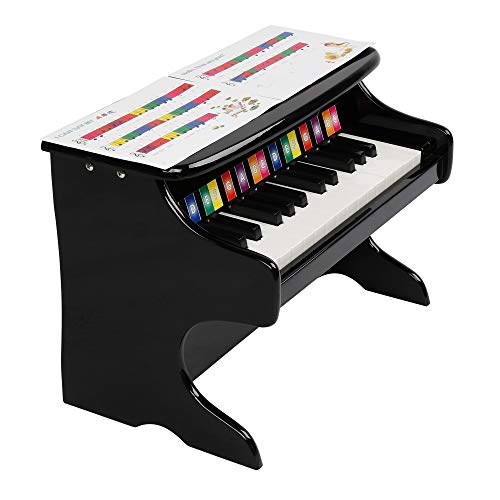 JOYMOR Classical Small Kids Piano, 25-Key Grand Piano for toddles, Musical Instrument Toy with Song Book (Black)