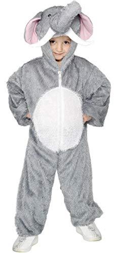Fancy Me Mädchen Jungen Kinder Elefant Dschungelbuch Wildes Tier Overall Einheitsgröße Büchertag Halloween Kostüm Verkleiden Outfit - grau, grau, 7-9 Years