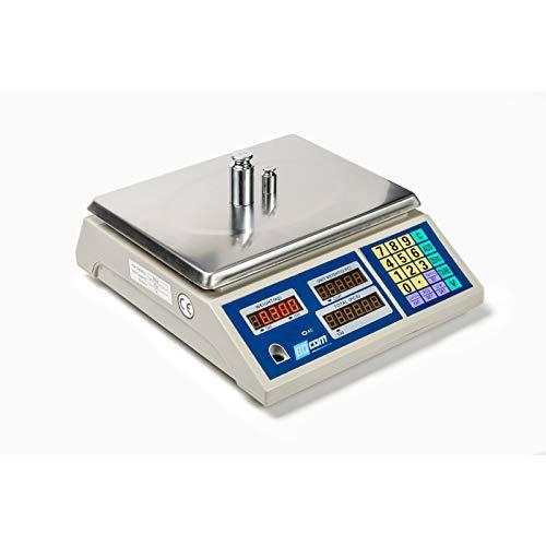 Balanza cuenta piezas 30 Kg capacidad 1 gramo precisión, industrial, tamaño plato 30x23cm y batería interna