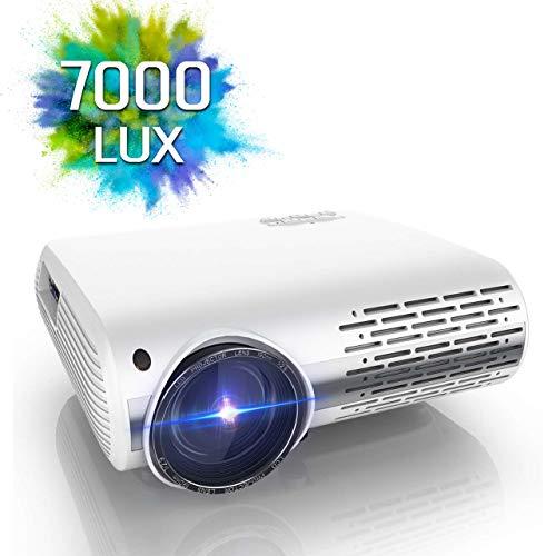 Proyector, YABER 7000 Lúmenes Proyector Full HD 1920x1080P