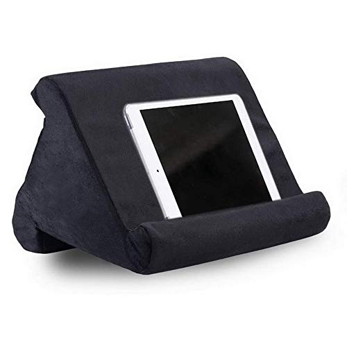 Tablet Pillow Stand, Soft Bed Pillow Holder, Fits up to 11' Pad, Fit with iPad 10.2' 2019, New iPad Air 3 2, iPad Pro 11 2020/10.5/9.7, Mini 5 4 3, for eReaders, Magazines, Kindle (black)