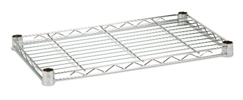 Honey-Can-Do SHF250C1436 Steel Wire Shelf for Urban Shelving Units, 250lbs Capacity, Chrome, 14Lx36W