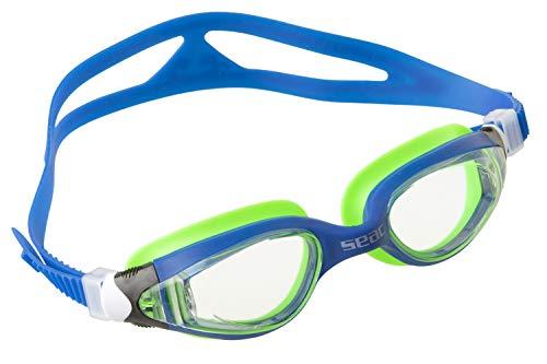 Seac Ritmo JR Lunettes natation piscine pour enfants et adolescents bleu/vert