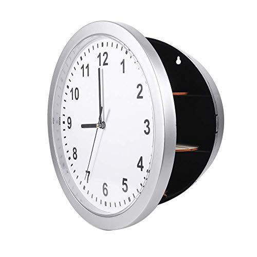 Reloj de pared seguro, secreto oculto Reloj de pared seguro Caja contenedor para guardar dinero, joyas, objetos de valor, almacenamiento en efectivo