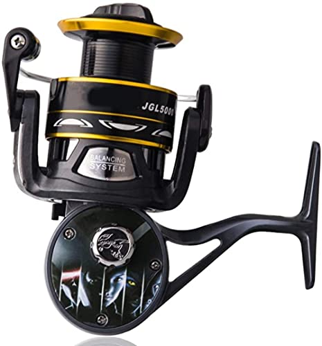 angelHJQ Fishing Reel 10-axis Long Throwing Sea Pole All Metal Head Spinning Wheel Fishing Wheel Rock Rod Wheel Outlet Smooth Fishing Gear Accessories (Color : Black, Size : 2000)