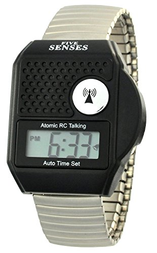 TimeChant Atomic Talking Digital Watch Sets Itself