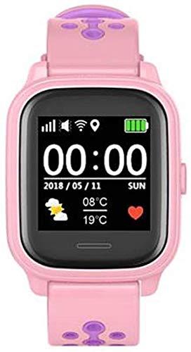 Anio 4 Touch ROSA GPS Kinder Smartwatch Smartphone Watch - Schutz für Ihr Kind - SOS Notruf - Telefonfunktion - Keine MONITORFUNKTION - GPS Kinder Uhr (Rosa)