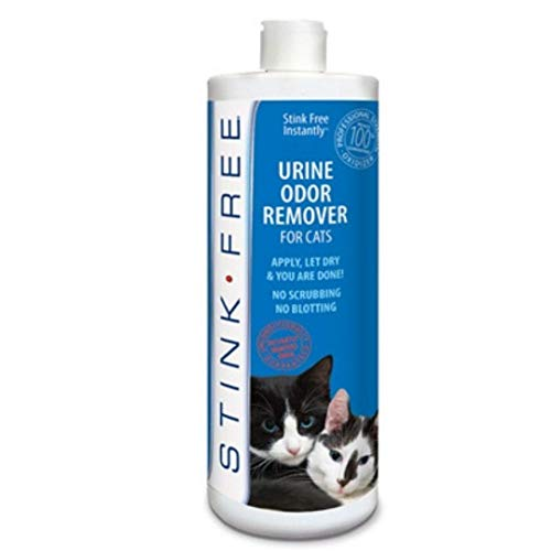 Stink Free Instantly Urine Odor Remover & Eliminator for Cat Urine - Neutralizer of Cat Pee, Oxidized Based Urine Cleaner Solution for Carpets, Rugs,...