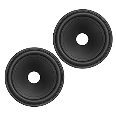 "uxcell 4"" Paper Speaker Cone Subwoofer Cones Drum Paper 0.8"" Inner Diameter with Rubber Surround 2 Pcs from uxcell"