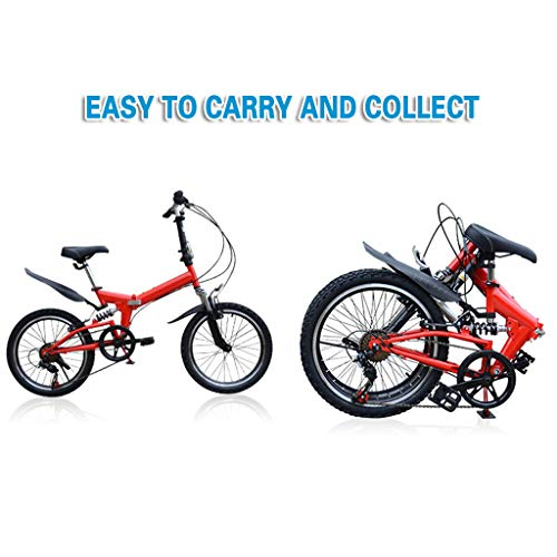 FANSIREN (US Shipping) Foldable Mountain Bike 20 Inch Bike for Adults with Variable Speed, Bicycles 20 Inch Lightweight Mini Folding Bike Small Portable Bike Adult Student