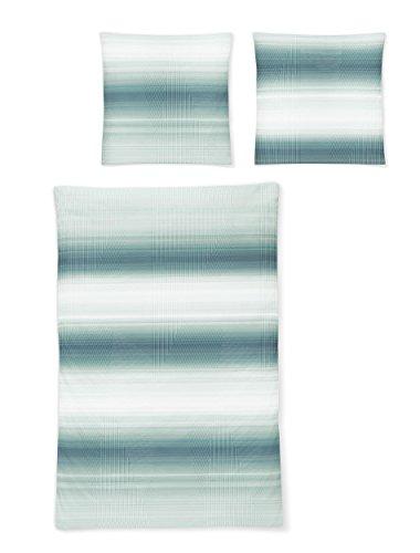 IRISETTE MAKO-SATIN BETTWÄSCHE CAPRI 8607 Farbe jade 135 x 200 cm