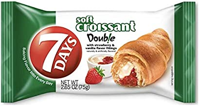 7Days Soft Croissant, Strawberry Vanilla (Pack of 12) | Perfect Breakfast OR Snack | GMO-Free