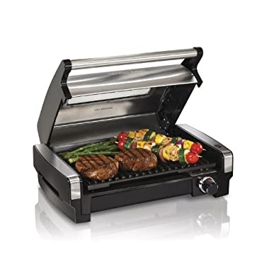 Hamilton Beach (25361) Electric Smokeless Indoor Grill & Searing Grill with Removeable Plates and Viewing Window