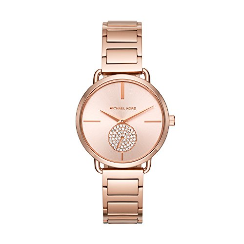 Michael Kors Women's Portia Rose Gold-Tone Watch MK3640