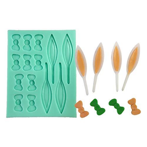 NINGYE Moldes de silicona en forma de orejas de conejo 3D para pastel de chocolate Fondant Mold Decoración para hornear