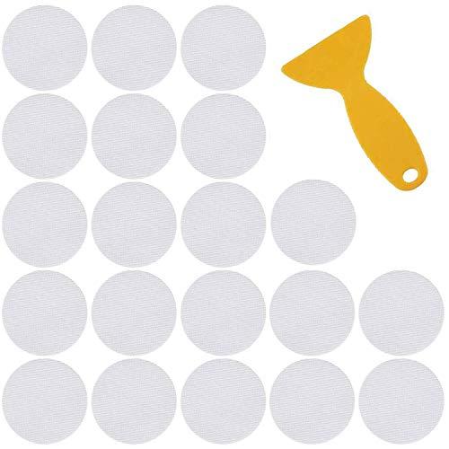 SiMin Anti Rutsch Sticker für Badewanne und Dusche 20 Stück,Premium Antirutsch Aufkleber für Duschen und Badewannen transparent und selbstklebend Antirutschaufkleber