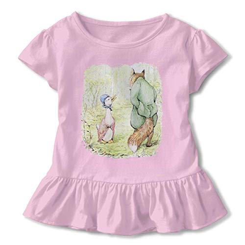 Niñas Manga Corta Pato y el Zorro Camiseta de Manga Corta para niños Unisex Ropa de Escalada para bebés Monos Mameluco Manga Corta Onesies Ligeros Negro