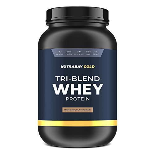 Nutrabay Gold Tri-Blend Whey Protein - Rich Chocolate Creme, 1kg
