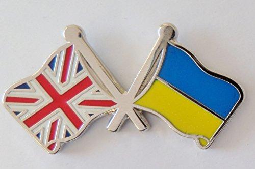 1000 drapeaux de l'Ukraine et drapeau du Royaume-Uni