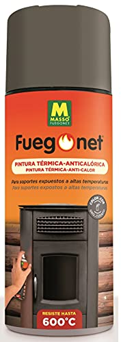 FUEGO NET Fuegonet 231284 Pintura Anticolérica, Gris Antracita, 3x6.5x20 cm