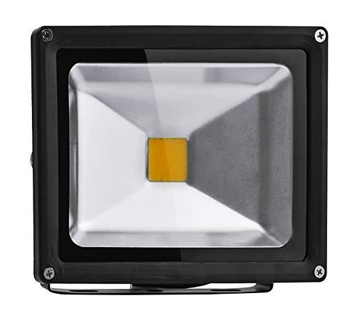 10W/20W/30W/50W/70W/100W/200W warmweiß mit schwarz Aluminium Gehäuse IP65 wasserdicht LED Lampe Squre Wandleuchter Fluter Flutbeleuchtung Flutlicht Scheinwerfer Außenstahler Leuchtmittel Energiesparend (20 Watt)