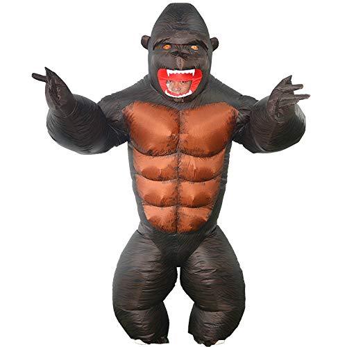 N / A CXFEN Lustige King Kong aufblasbare Kleidung Gorilla aufblasbare Kleidung Maskerade lustige Requisiten