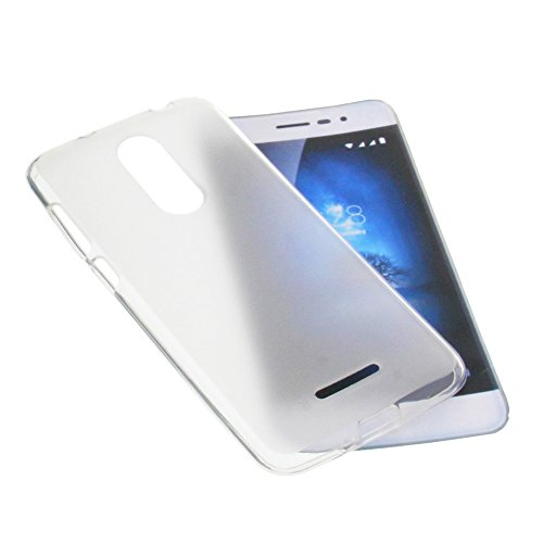 foto-kontor Tasche für coolpad Torino S Gummi TPU Schutz Handytasche transparent weiß