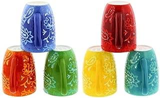 Laurie Gates California Designs 6 Piece Ceramic Hand-painted Mug Set by L. Gates