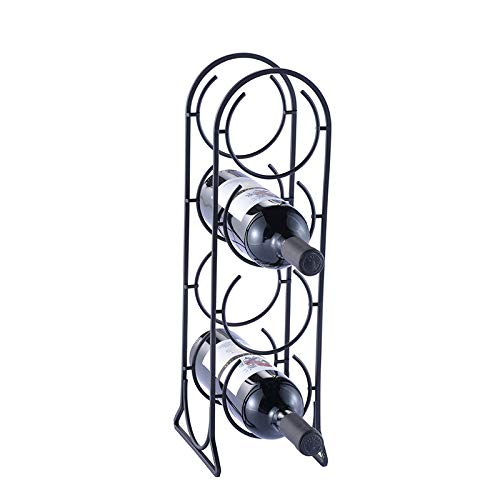 4 Flaschen Freistehender Tisch Metall Rotwein Regal Einfache Mode Vierstöckige Nissen Eisen Wein Trauben Lager Regal