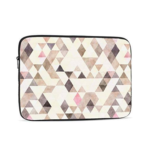 Watercolor Tan Mocha Cream Pink Triangles 13 Inch Laptop Sleeve Bag Compatible with 13.3' Old MacBook Air (A1466 A1369) Notebook Computer Protective Case Cover