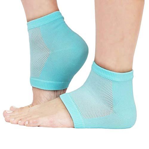 Tomyeer feuchtigkeitsspendende Socken für die Ferse, Hellgrün