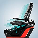 AsVIVA Liegeergometer R7 Bluetooth Recumbentbike mit App Steuerung und Magnetbremse, integrierte Handpulssensoren - 16 computergesteuerte Widerstandstufen, ergonomischer Sitz mit Rückenlehne